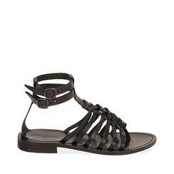 Sandales noir en cuir de vache, Primadonna, 178100651VANERO035, 001a