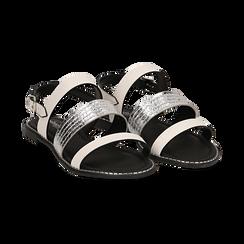 Sandali bianchi in eco-pelle,