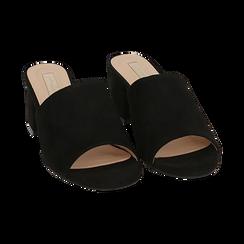 Mules nere in microfibra, tacco 5,50 cm , Scarpe, 152770341MFNERO036, 002 preview