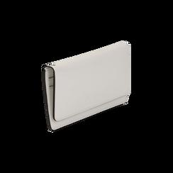 Portafoglio bianco in eco-pelle con laccetto per il polso, Borse, 133723651EPBIANUNI, 002 preview