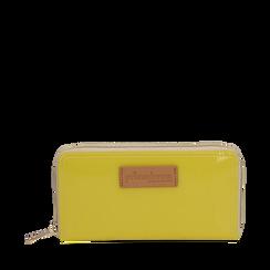 Portafoglio giallo in pvc, Borse, 133732328PVGIALUNI, 001a