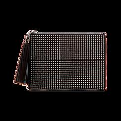 Pochette nera in microfibra, Borse, 123306939MFNEROUNI, 001 preview