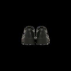Francesine stringate nere casual punta tonda, Scarpe, 120603905EPNERO, 003 preview