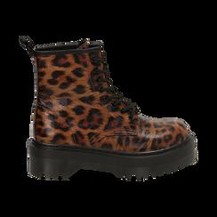 Botas militares con estampado de leopardo, Primadonna, 162800001EPLEMA036, 001 preview
