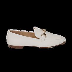 Mocasines eco-piel blanco, Zapatos, 154939181EPBIAN036, 001 preview