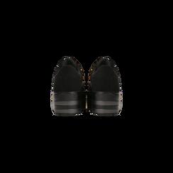Sneakers nere suola platform multistrato, Scarpe, 122818575MFNERO, 003 preview