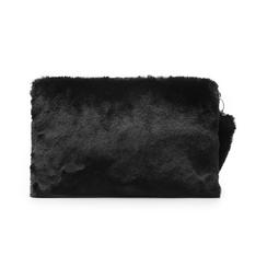 Pochette nera in eco-fur, Borse, 14B443016FUNEROUNI, 003 preview