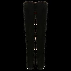 Stivali sopra il ginocchio neri scamosciati, tacco 6 cm, Scarpe, 124911283MFNERO, 003 preview