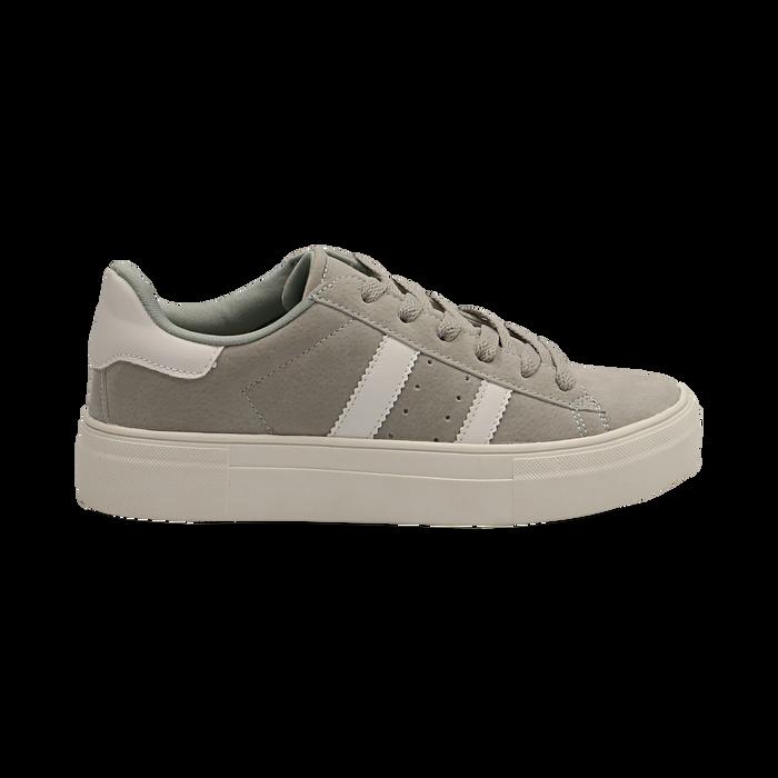 Sneakers grigie in microfibra stile vintage Seventies, Scarpe, 130101157MFGRIG036