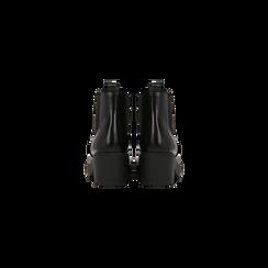 Chelsea Boots neri con suola alta, tacco 5,5 cm, Scarpe, 122808601ABNERO, 003 preview