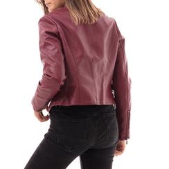 Biker jacket bordeaux in eco-pelle, Abbigliamento, 146507261EPBORD3XL, 002a
