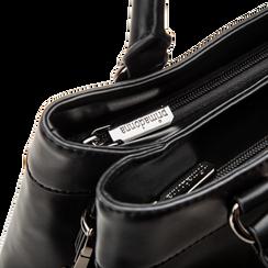 Mini-bag nera in ecopelle, Primadonna, 121818007EPNEROUNI, 005 preview