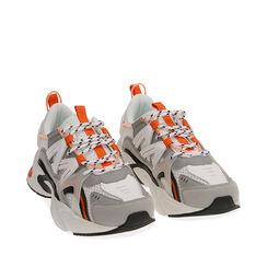 Sneakers bianco/arancio, Scarpe, 17E900045EPBIAC035, 002a