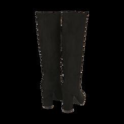 Stivali neri in microfibra, tacco 9,50 cm , Primadonna, 163026501MFNERO035, 003 preview