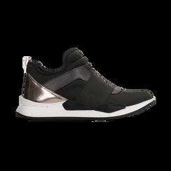 Sneakers nere in lycra con fascia elastica, Scarpe, 121617843LYNERO, 001 preview