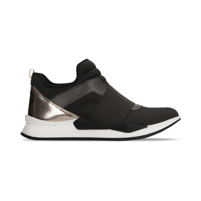Sneakers nere in lycra con fascia elastica, Scarpe, 121617843LYNERO