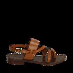 Sandales en cuir de vachette, Primadonna, 15D620005VACUOI036, 001a