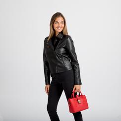 Mini bag rossa in ecopelle con tracolla a bandoliera, Primadonna, 122429139EPROSSUNI, 005 preview