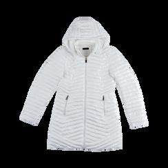 Piumino Bianco Donna Lungo con Cappuccio, Abbigliamento, 128500502TSBIAN, 001 preview