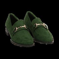 Mocasines de microfibra en color verde, Zapatos, 164964141MFVERD035, 002 preview
