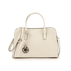 Bolsa de mano en eco-piel con estampado de cocodrilo color blanco, Bolsos, 155702495CCBIANUNI, 001 preview
