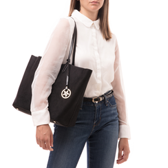 Maxi-bag nera in microfibra, Borse, 145786295MFNEROUNI, 002 preview