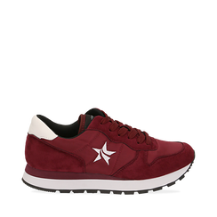 Sneakers bordeaux in microfibra, Scarpe, 140600201MFBORD035, 001a