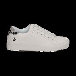 Sneakers bianche in eco-pelle dettaglio snake, Scarpe, 132619071EPBIAN036, 001 preview