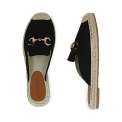 Slippers nere in microfibra, Chaussures, 154951159MFNERO, 003 preview