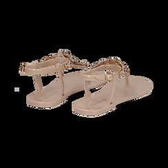 Sandali infradito nude in pvc con strass, Primadonna, 130900001PVNUDE035, 004 preview