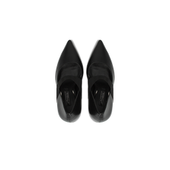 Décolleté nere con cinturino elastico, tacco 9 cm, Scarpe, 128485107EPNERO, 004 preview