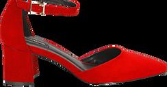 Décolleté rosse in microfibra con cinturino, tacco 6 cm  , Scarpe, 144942231MFROSS036, 005 preview