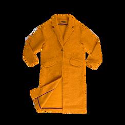 Cappotto lungo giallo lavorazione shearling, Abbigliamento, 12G750756TSGIAL, 001a preview