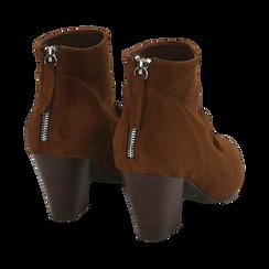 Ankle boots marroni in microfibra, tacco 7,50 cm , Primadonna, 160598311MFMARR035, 004 preview