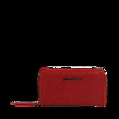 Portafogli rosso in eco-pelle, Borse, 143700124EPROSSUNI, 001a