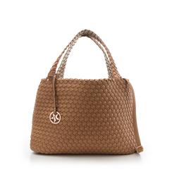 Maxi-bag cuoio in eco-pelle intrecciata , Borse, 135786118EICUOIUNI, 001a