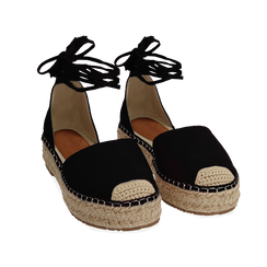 WOMEN SHOES ESPADRILLAS MICROFIBER NERO, Chaussures, 154930501MFNERO, 002 preview