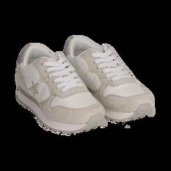 Sneakers en microfibra color blanco, Zapatos, 150620011MFBIAN036, 002 preview