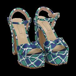CALZATURA SANDALO RASO VERD, Chaussures, 152133401RSVERD036, 002a