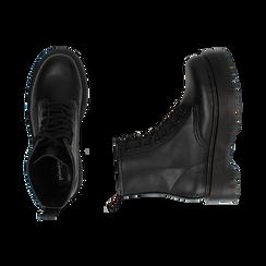 Botas militares en color negro, Primadonna, 162800001EPNERO035, 003 preview