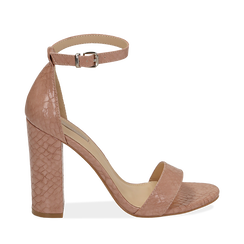 WOMEN SHOES SANDAL EP-PYTHON NUDE, Chaussures, 152706086PTNUDE036, 001a