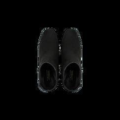 Chelsea Boots Neri Tacco con Largo Alto, Scarpe, 122707127MFNERO, 004 preview