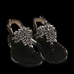 WOMEN SHOES FLAT MICROFIBER NERO, Chaussures, 154997015MFNERO036, 002a