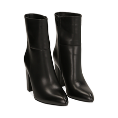 Ankle boots a punta neri, tacco 9,50 cm , Primadonna, 163026508EPNERO035, 002 preview