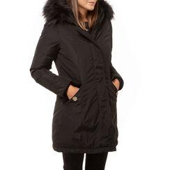 Parka acolchado negro con capucha en tejido, Primadonna, 168500598TSNEROL, 001 preview