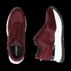Sneakers bordeaux in tessuto tecnico, suola 5,50 cm , Scarpe, 142898983TSBORD035, 003 preview