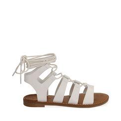 Sandalias gladiador blancas, 175248103EPBIAN035, 001a