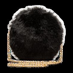 Tracollina nera in eco-pelliccia, Saldi, 12B412001FUNEROUNI, 001 preview