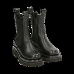 Bottes Chelsea noir, talon 5 cm, Primadonna, 167560723EPNERO036, 002 preview