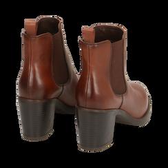 Ankle boots cuir, talon 4,50 cm, Primadonna, 169495750PECUOI035, 004 preview